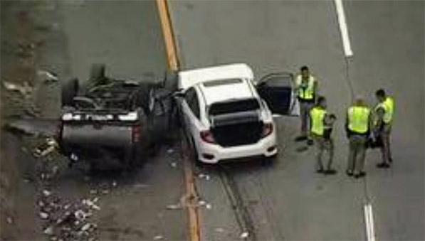 Oakland, CA - 1 dead in a fatal car crash on Westbound Highway 24