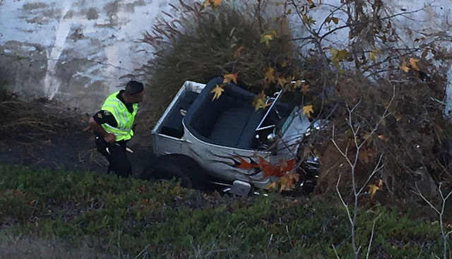 Man Crashes in Classic Car during Test Drive in San Diego